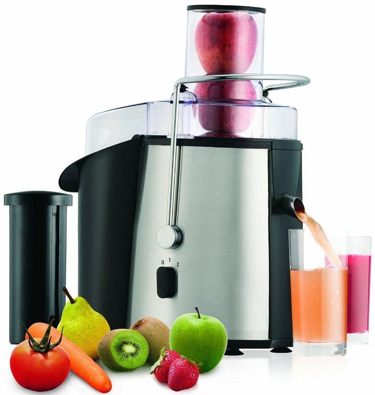 Edelstahl Saftpresse elektrischer Entsafter Obstpresse für ganze Früchte Fruchtpresse Power Juicer 900 Watt