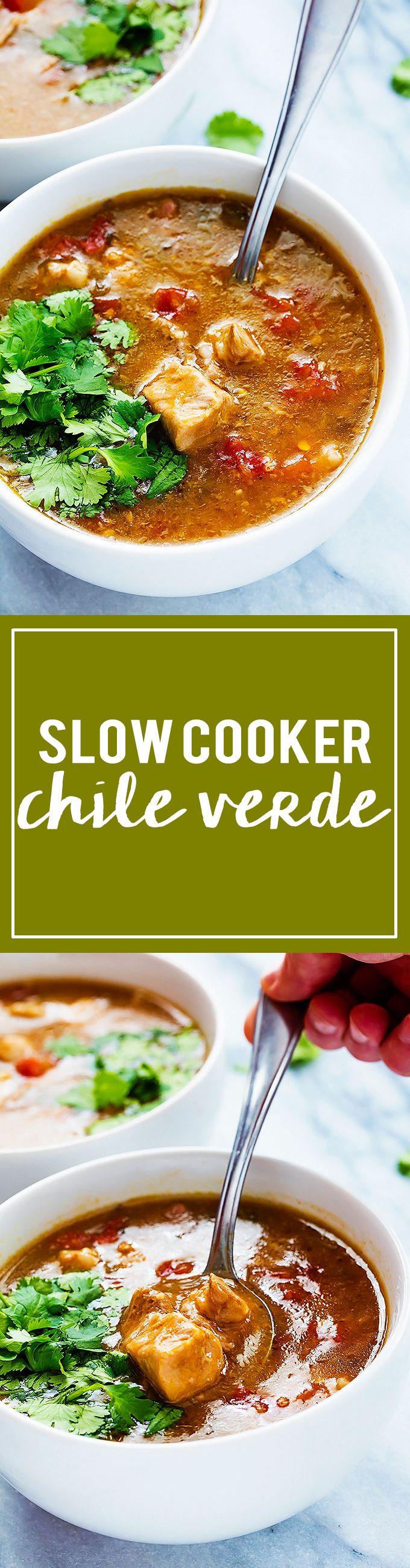 Slow cooker Chile Verde   Creme de la Crumb