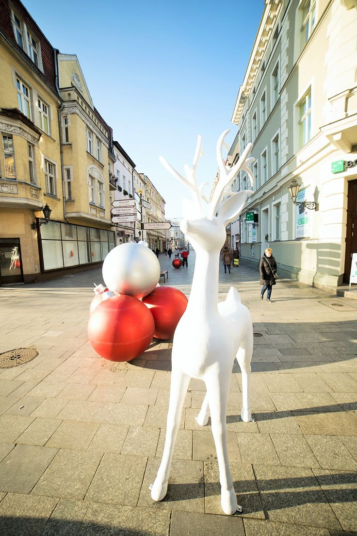 Renifer w centrum Leszna! | christmas decor for cities by terrachristmas in Leszno, Poland