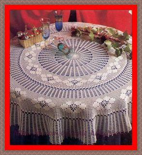 Delicadezas en crochet Gabriela: Mantel redondo de ganchillo …