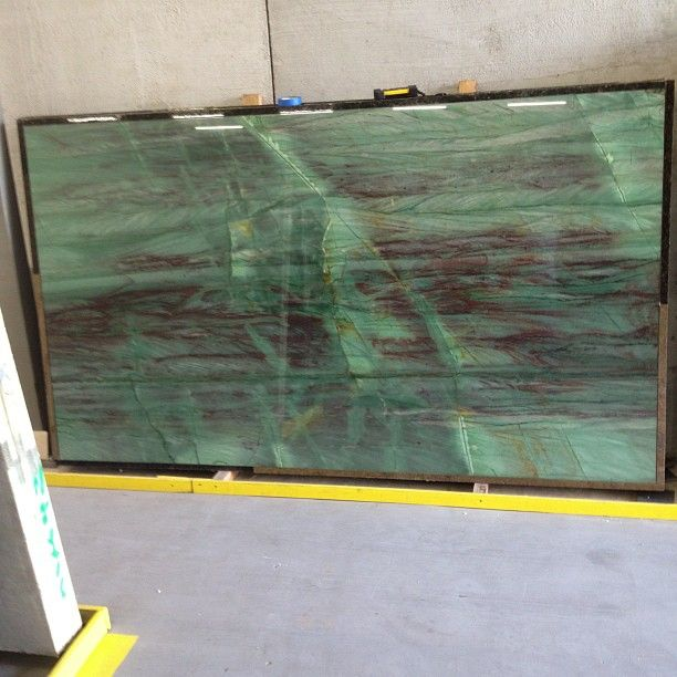 Aqua Emerald Quartzite Slab #slab #warehouse #naturalstone #natural #stone #quartzite