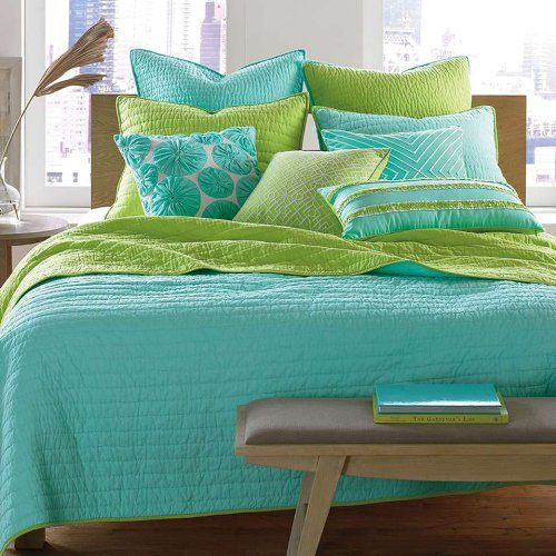 Pin by Christy Zimmerman on Taylor room ideas  Green bedding Lime green bedrooms Lime green