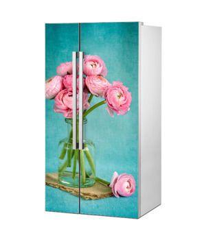 Mata magnetyczna na lodówkę side by side - Wazon kwiatów 0790