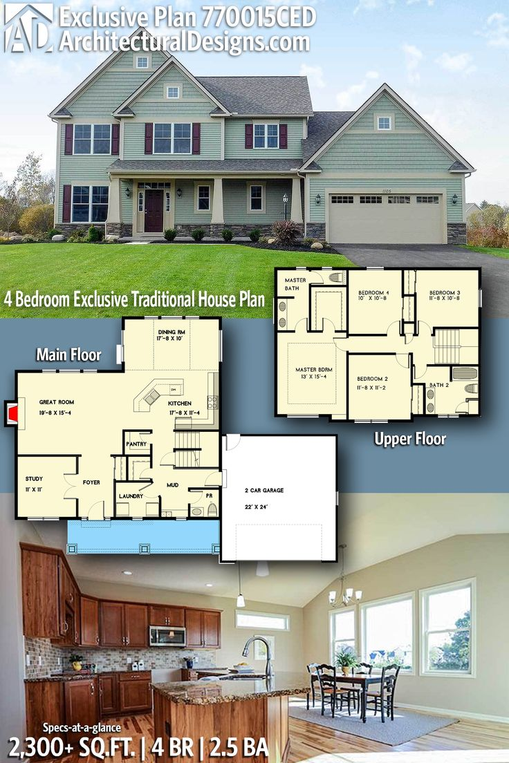 Architectural Designs Exclusive Traditional House Plan 770015CED