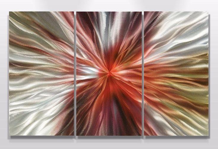 Modern Abstract Wall Art Original painting Contemporary metal sculpture panel