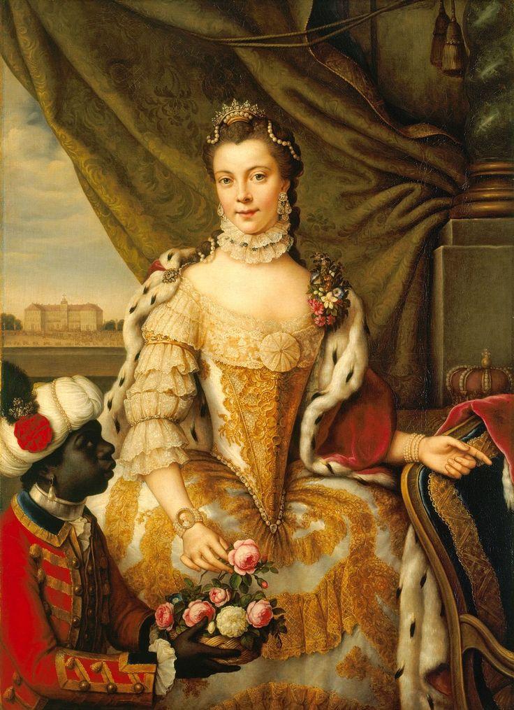 Johann Georg Ziesenis: Queen Charlotte (1744-1818) when Princess Sophie Charlotte of Mecklenburg-Strelitz. c. 1761.