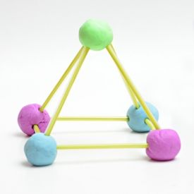 Play Doh Tinker Toy tutorial and other fabulous Play Doh crafts for kids! Great for teaching 2D and 3D shapes.