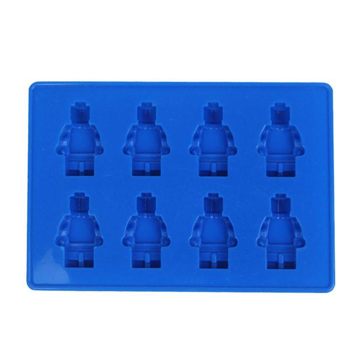 ESYN bricolage silicone Ice Cube Tray Cookies Chocolate Cake Mold bonbons Jelly Baking Mini Moules (Blue Lego Man): Amazon.fr: Cuisine & Maison