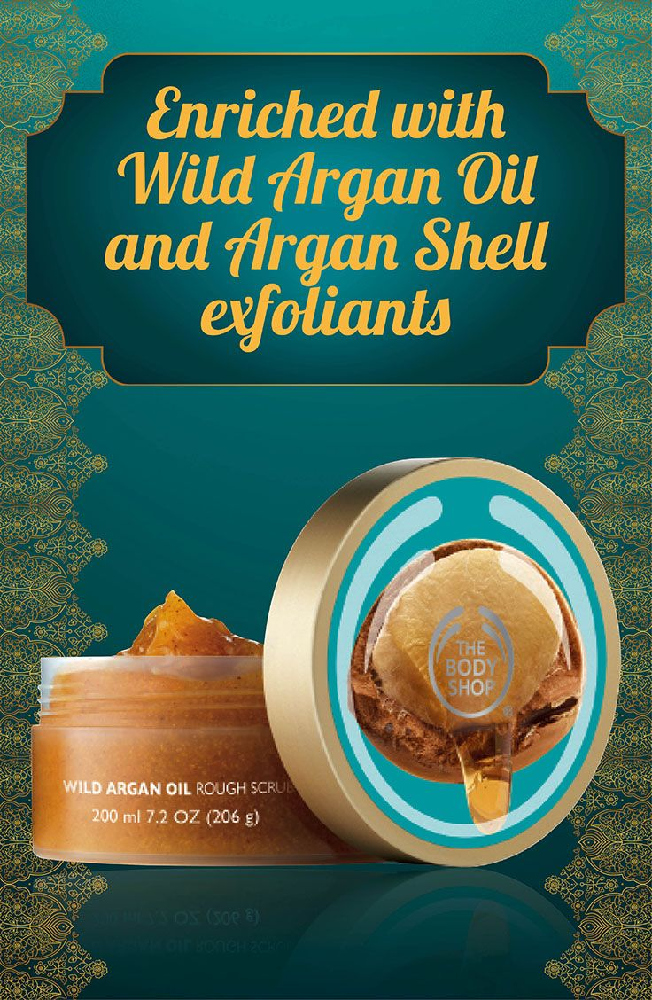 WILD ARGAN OIL THE RADIANT OIL FOR BODY & HAIR Reveal radiant skin with this rich body exfoliator, enriched with Community Fair Trade wild argan oil from Morocco and argan shell exfoliants. 200 ml/R130.00 RR