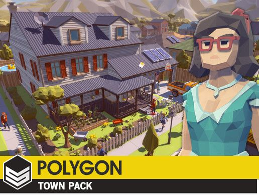 POLYGON - Town Pack Unity Asset Store Unreal Engine Unity Games