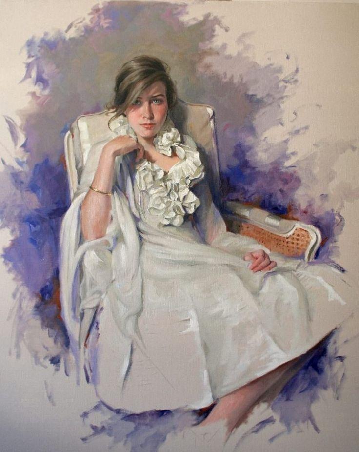 Современный испанский художник Ricardo Sanz. Женский портрет. . Обсуждение на LiveInternet - Российский Сервис Онлайн-Дневников