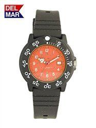 Del Mar 50507 Womens Dive 200 Orange Dial PU Watch * Click on the image for additional details.Note:It is affiliate link to Amazon.