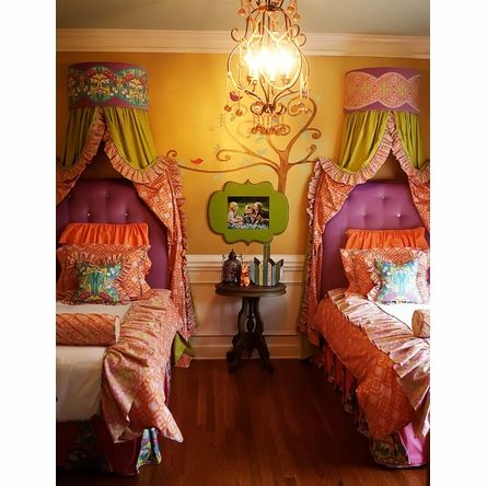 Twin Upholstered Headboard. Love this for a little girl!