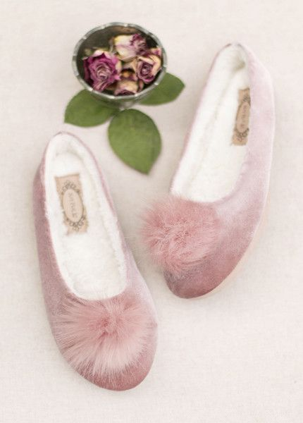 d94250499ec4 Amaya Slipper in Blush | Clothes and shoes | Velvet slippers, Pink ...