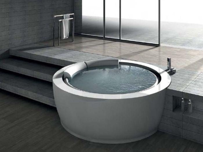 """Einzigartige Runde Whirlpool-Badewanne """"Bolla Sfioro"""" Von Hafro"""