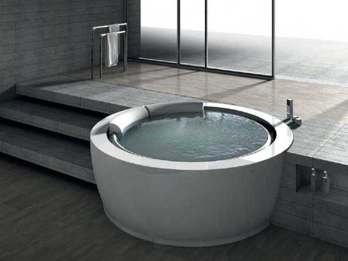 Einzigartige runde Whirlpool-Badewanne u201cBolla Sfiorou201d von Hafro - whirlpool badewanne designs jacuzzi