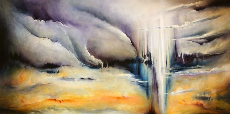 """Asunder"" by Daniel Rigos. Abstract Surreal Landscape Oil Painting for Sale on Bluethumb - Online Art Gallery, Australia. 92cm (W) x 46cm (H) - $800 AUD"