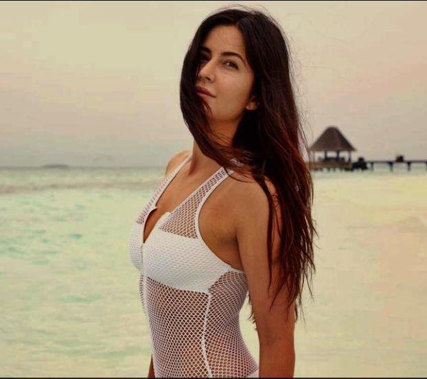 Katrina Kaif in a white bodysuit