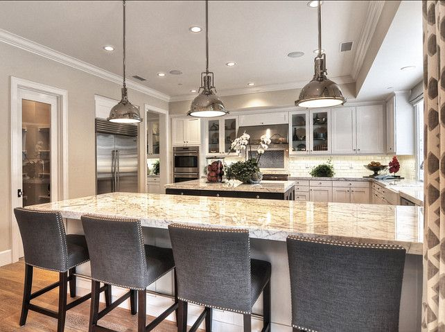kitchen gray upholstered countertstools with nail head accents details a design firm newport. Interior Design Ideas. Home Design Ideas