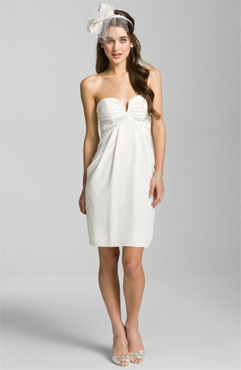 Nicole Miller Sweetheart Neckline Draped Silk Dress @Nordstrom #wedding  #nordstromweddings