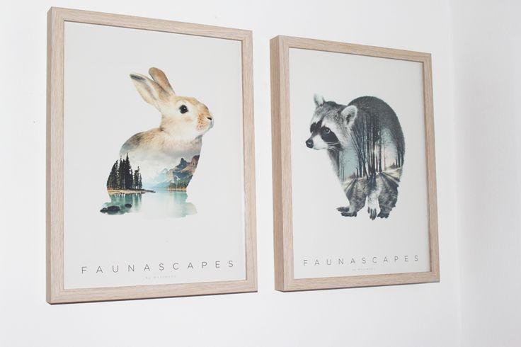 Faunascapes: Flotte plakater til børneværelset blogpost på http://www.emiliblog.dk