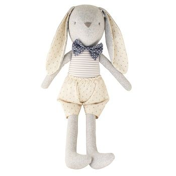 Louie Bunny Cuddle Toy Cream $58.95 #sweetcreations #baby #toddlers #kids #softtoys #toys #cuddle