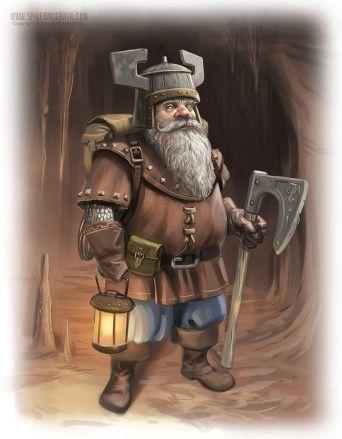 Dwarf miner  Tom McGrath 2015