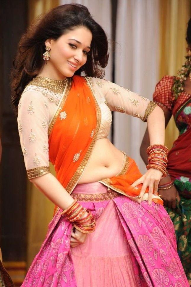 Tamanna Latest Hot Navel Show Photos in Half Saree   Movie Photos ...