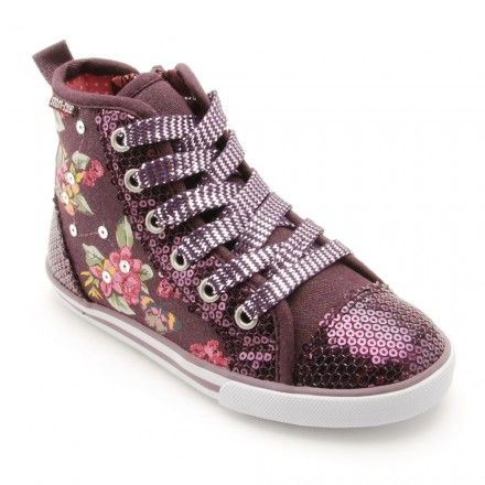 Frangipani, Dark Purple Sparkle Girls Zip-up Canvas Shoes - Girls Boots - Girls Shoes http://www.startriteshoes.com/girls-shoes/boots/frangipani-purple-sparkle-girls-zip-up-canvas-shoes