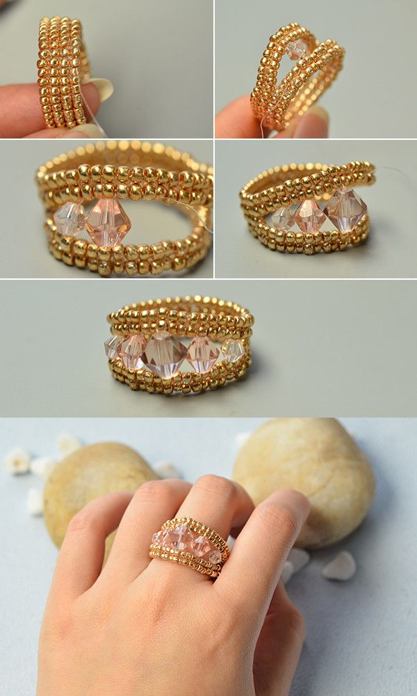 Like the seed beads ring?You will see the tutorial from LC.Pandahall.com soon.