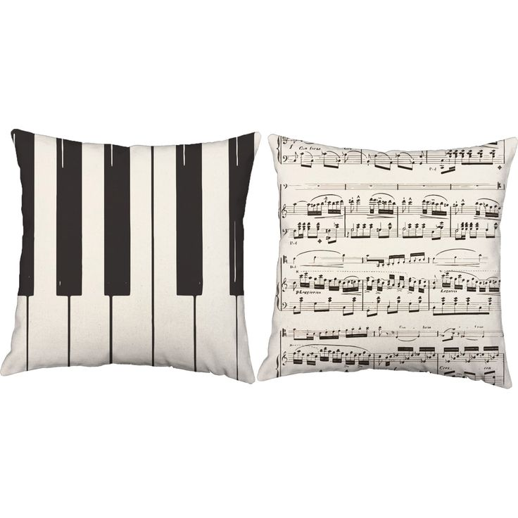 These pillows are a beautiful way to showcase your favorite instrument. Keep them for yourself or give them to the music lover in your life! FEATURES - Prices are for a set of 2, choose your favorite
