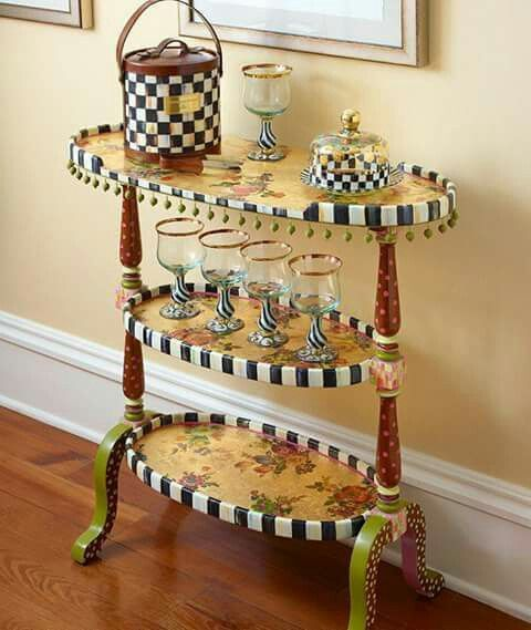 74 Best Mackenzie Childs So Whimsical Images On Pinterest Painted Furniture Furniture Ideas