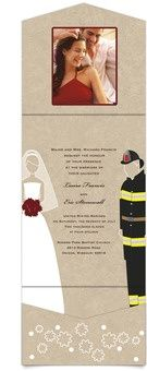 firefighter wedding invite, possible