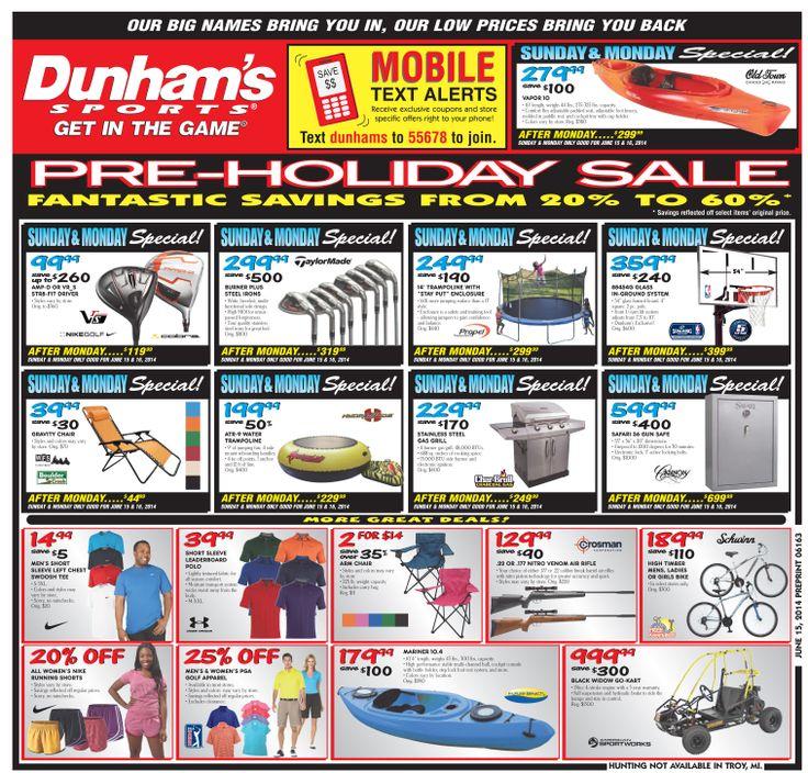 Weekly Circulars-Dunham's Sports