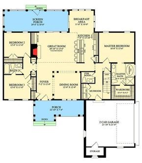 1990 sq ft. Plan 32415WP: Inviting One-Story Home Plan