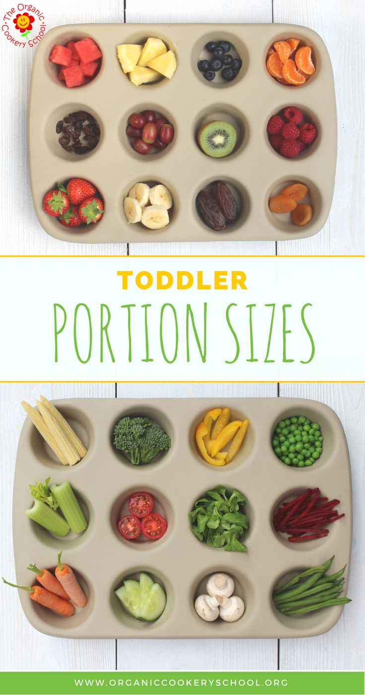 The Organic Cookery School Toddler Portion Guide