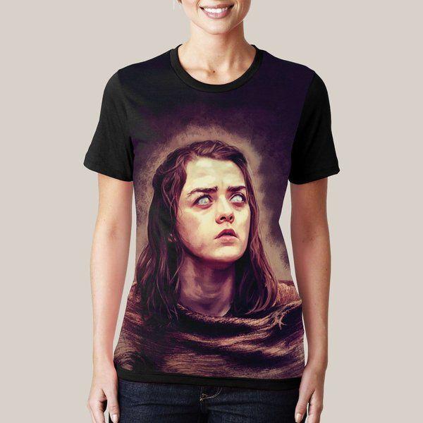 camiseta game of thrones got jon snow arya stark comprar - Kingdom Store