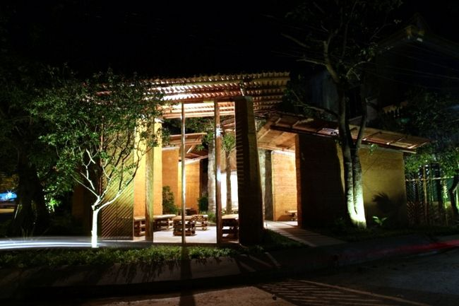 Exotic bamboo pavilion promotes the learning and cultural exchange