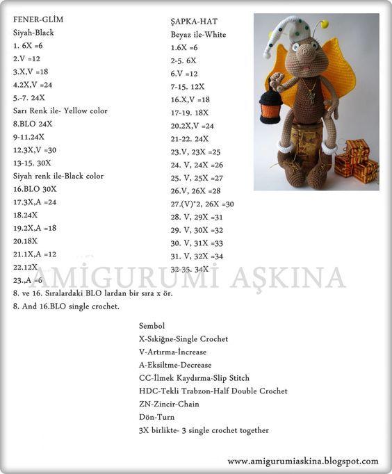 amigurumi Ateş böceği Tarifi,örgü oyuncak ateş böceği tarifi,ateş böceği yapılışı