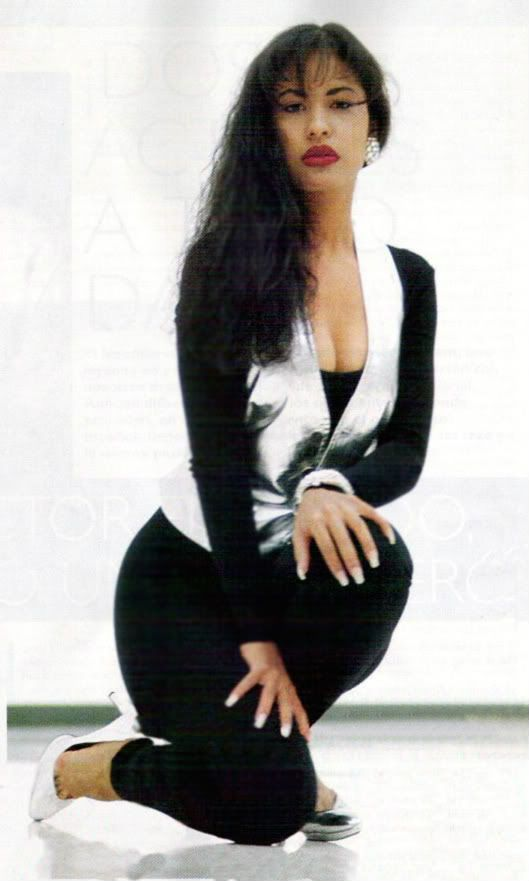 Selena in a photo shoot for her famous 1994 album, Amor Prohibido