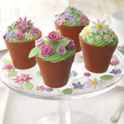 Flower Pot Cake Cases