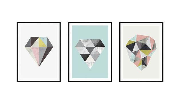 Visualização grande do modelo 3D de Diamond prints