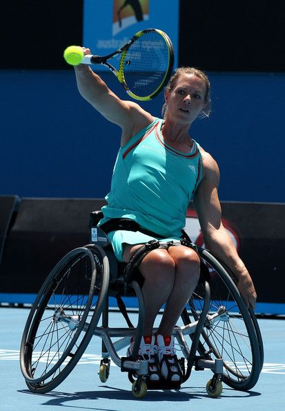 The world's #1 ranked wheelchair player- since April 6, 1999: Tennis Champion Esther Vergeer at the 2012 Australian Open. 1/27/12