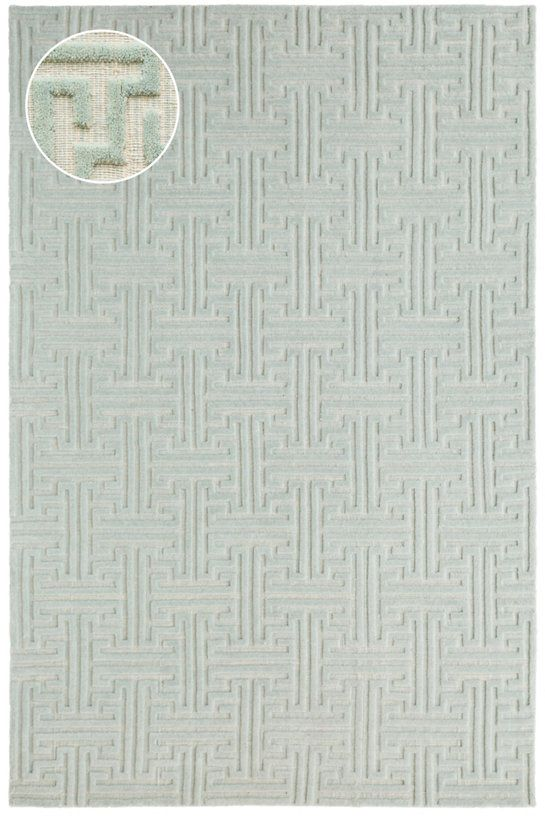 Beekman Pearl Blue Jacquard Loom Knotted Rug