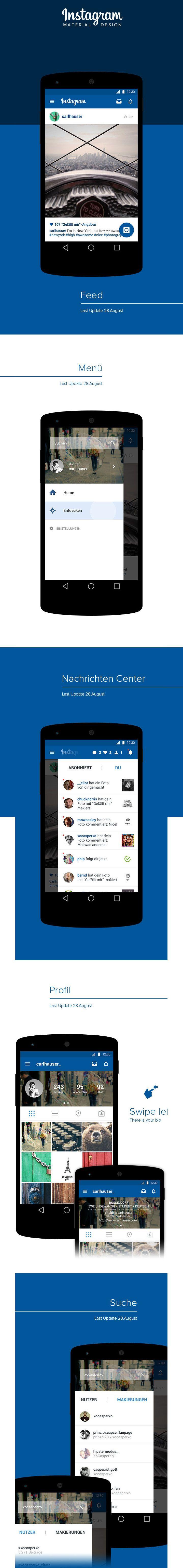 Instagram | Material Design Redesign android