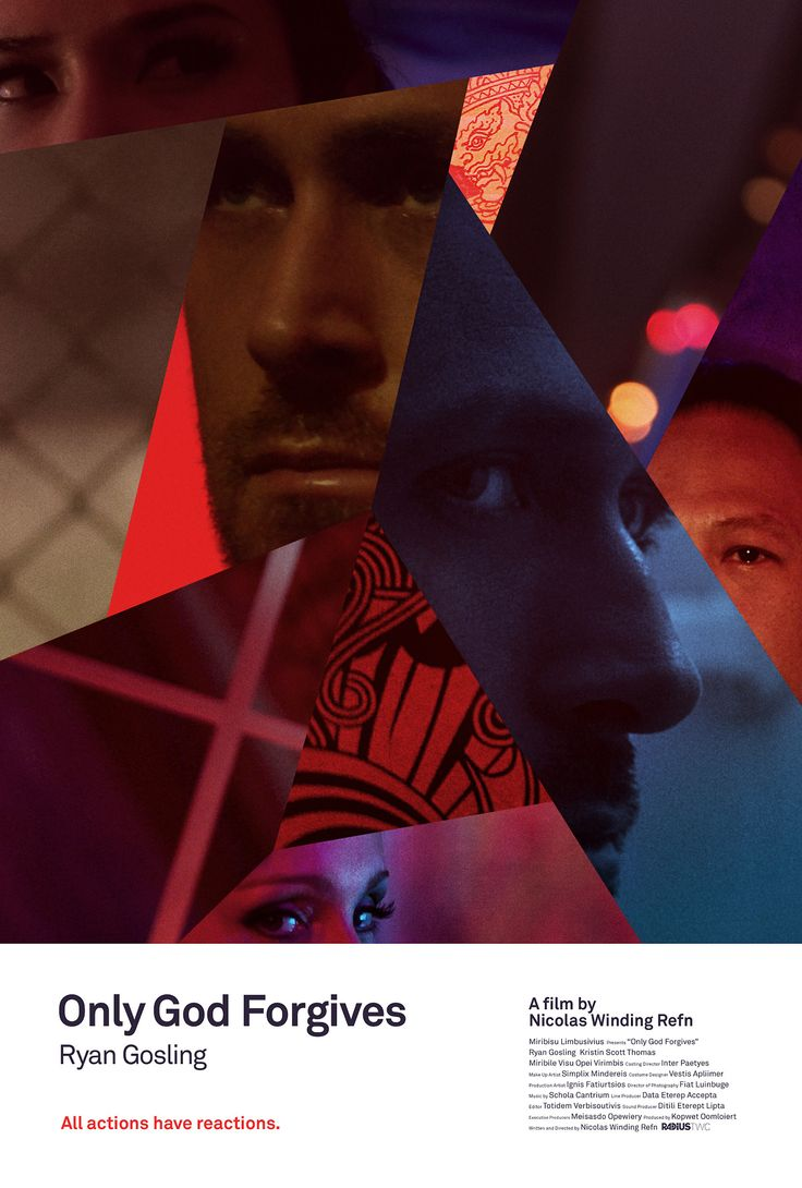 Only God Forgives Neon Poster