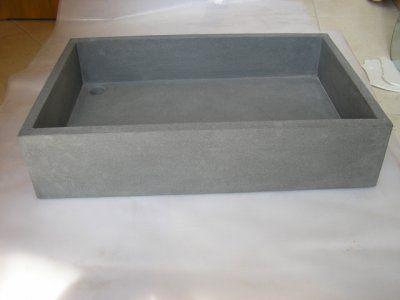 Lavello in granito nero assoluto sabbiato