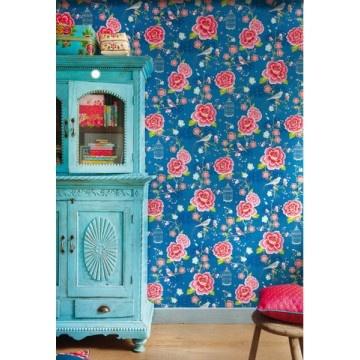 PiP Studio Birds of Paradise Blue wallpaper..that blue cabinet