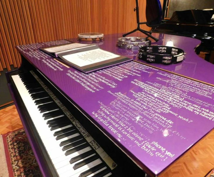Prince's piano and song-selection list.