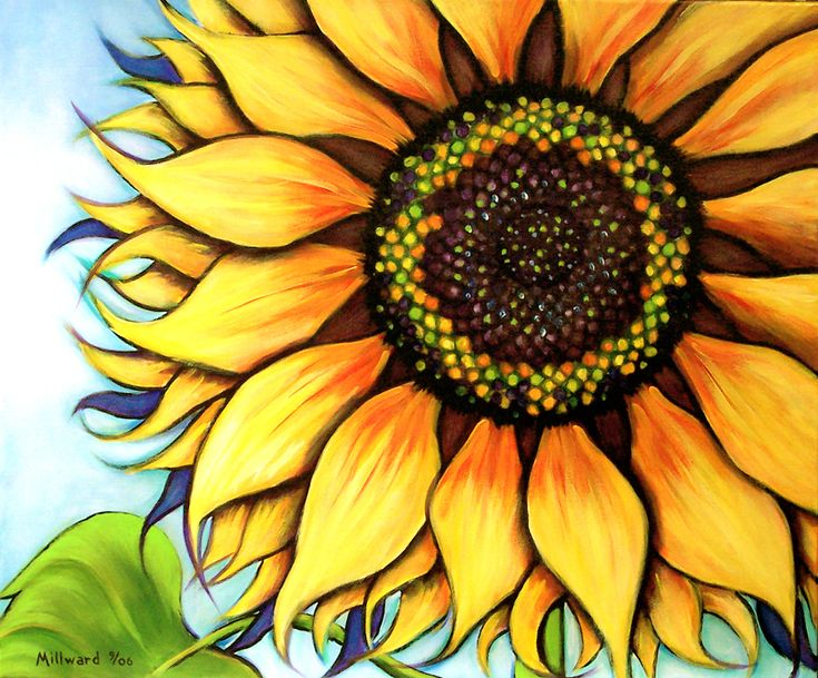 Simple Sunflower Painting images